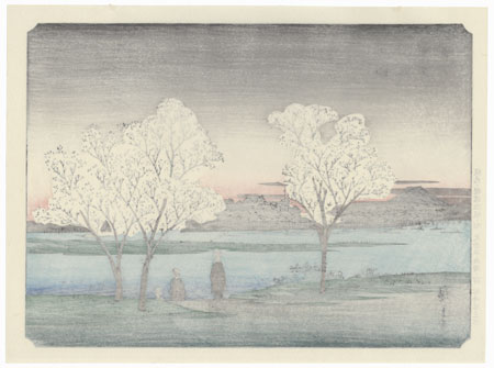 Toto Sumida - Zutsumi no Yukei by Hiroshige (1797 - 1858)