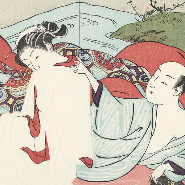 In The Bed by Harunobu (1724 - 1770)