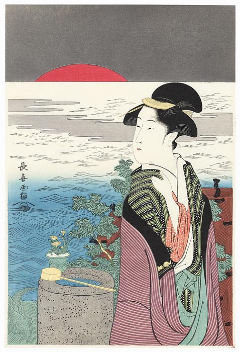 Sunrise at New Year by Choki (active circa 1785 - 1805)