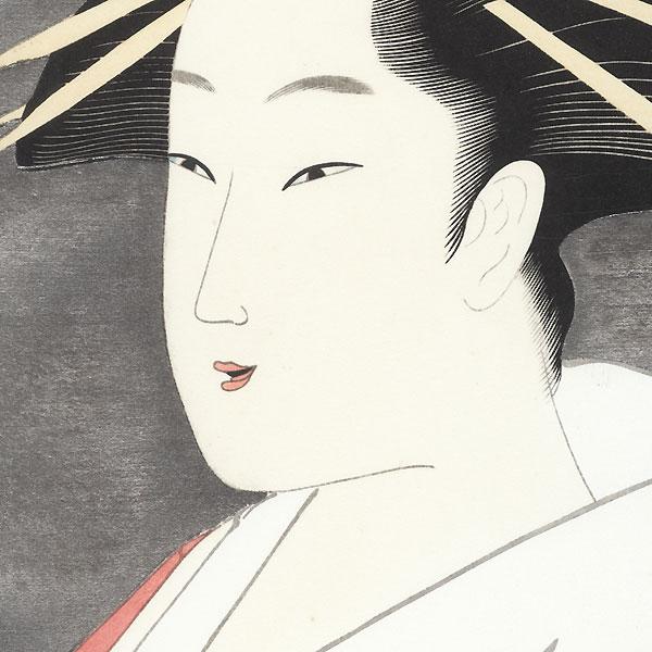 Hanaogi of the Ogiya  by Eisho (1790 - 1799)