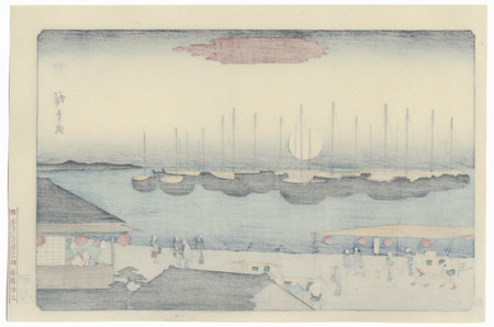 View of Takanawa in Moonlight by Hiroshige (1797 - 1858)