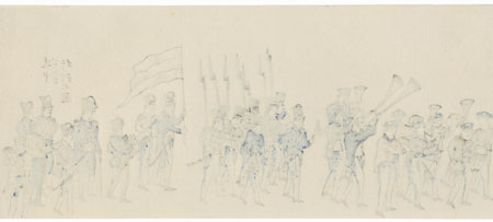 British Soldiers by Edo era artist (unsigned)