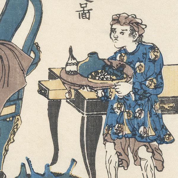 Dutch Traders in Nagasaki by Edo era artist (unsigned)