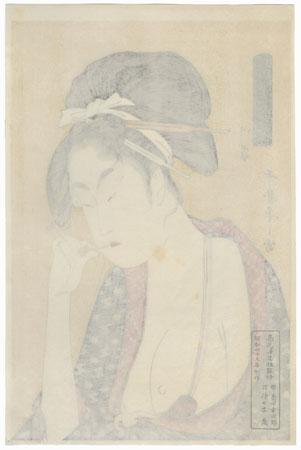Moatside Prostitute by Utamaro (1750 - 1806)