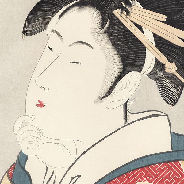 Shizuuta of the Tamaya by Utamaro (1750 - 1806)