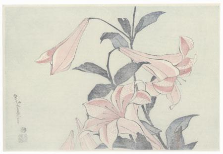 Lilies by Hokusai (1760 - 1849)