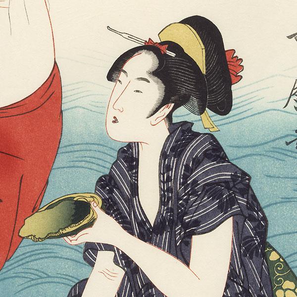 Awabi Divers Triptych by Utamaro (1750 - 1806)