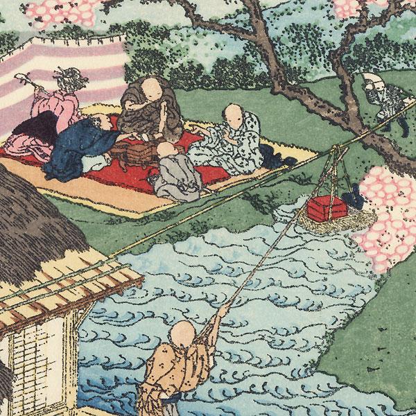 Fuji through Flowers by Hokusai (1760 - 1849)