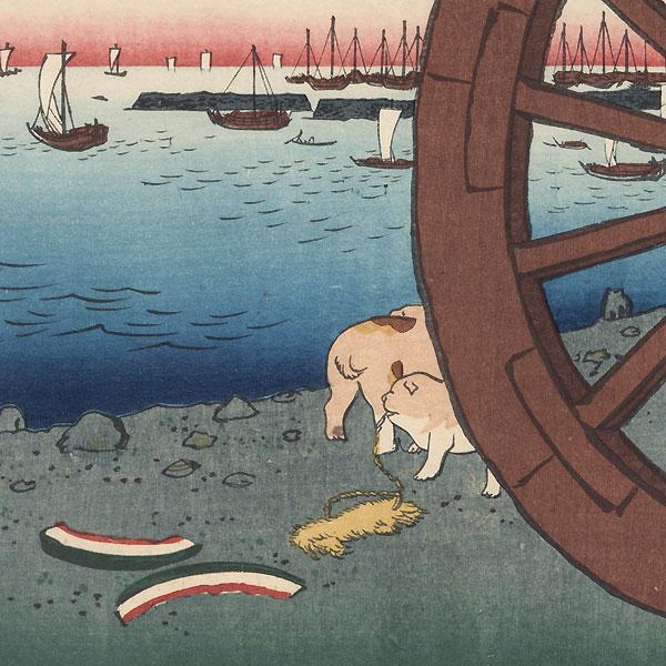 Ushimachi, Takanawa by Hiroshige (1797 - 1858)