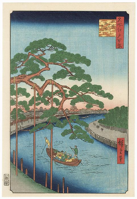 Five Pines, Onagi Canal by Hiroshige (1797 - 1858)