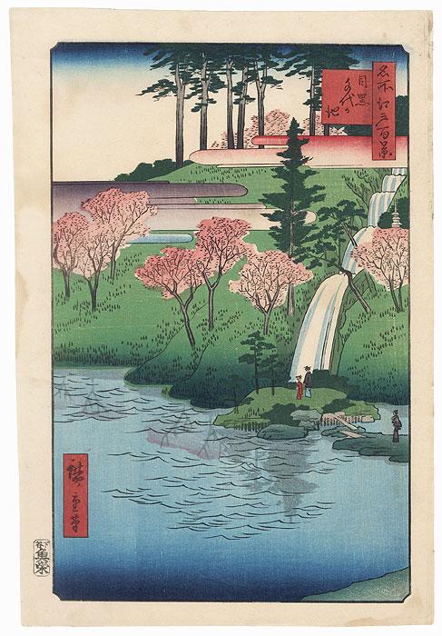 Chiyogaike Pond, Meguro by Hiroshige (1797 - 1858)