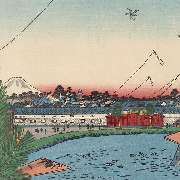 Hibiya and Soto-Sakurada from Yamashita-cho by Hiroshige (1797 - 1858)