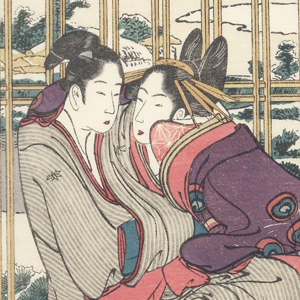 Lingering Snow for Azuma and Yohei by Hokusai (1760 - 1849)