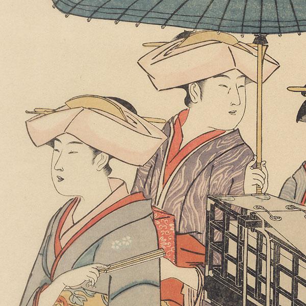 Customs of the Eastern Capital, 1915 Watanabe Reprint by Kiyonaga (1752 - 1815)