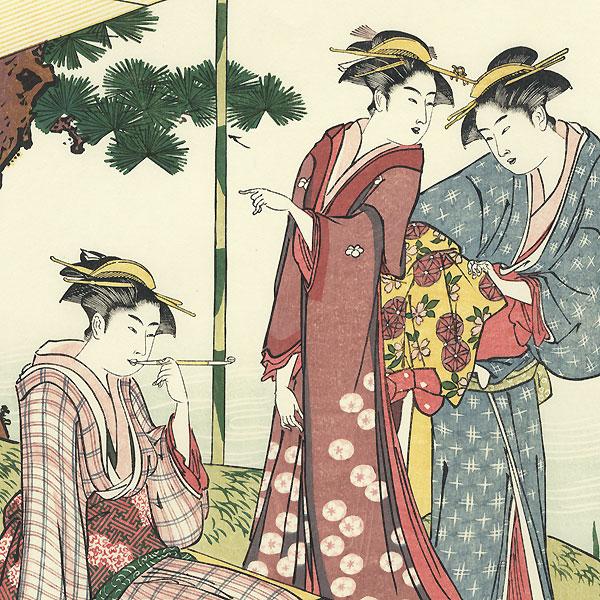 Relaxing at a Lake by Kiyonaga (1752 - 1815)