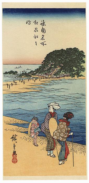 Sagami Province, Enoshima by Hiroshige (1797 - 1858)