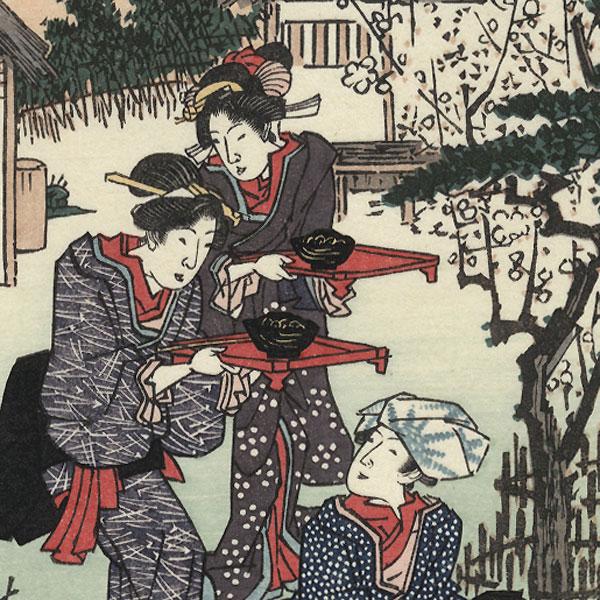 Congratulations by Hiroshige (1797 - 1858)