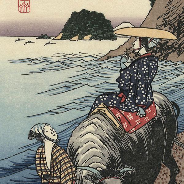 Sagami Province, Shichiri-ga-hama by Hiroshige (1797 - 1858)