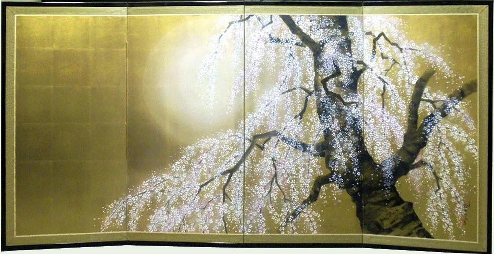 Hazy Moon and Cherry Tree by Shoraku Sanjin