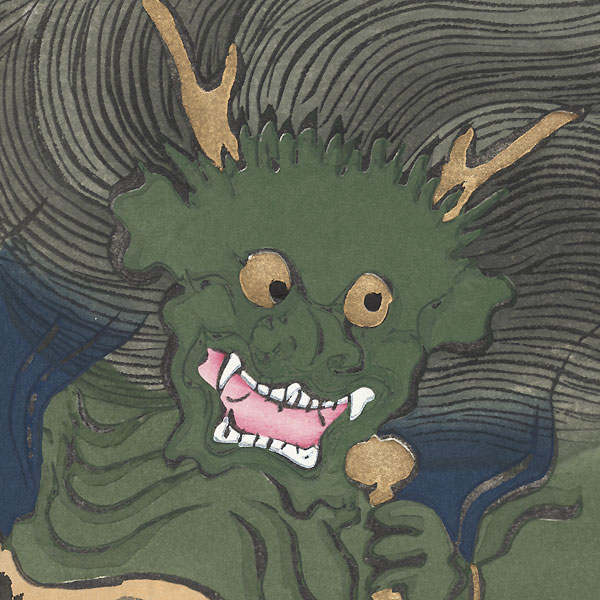 The Thunder God Raijin by Kamisaka Sekka (1866 - 1942)