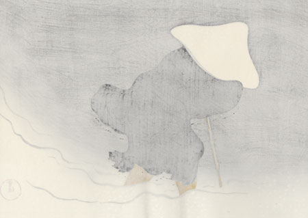 Nichiren in Exile by Kamisaka Sekka (1866 - 1942)