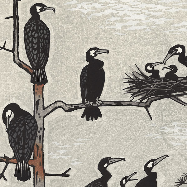 Cormorants, 1957 by Shiro Kasamatsu (1898 - 1991)