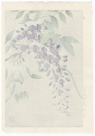 Wisteria by Kawarazaki Shodo (1889 - 1973)