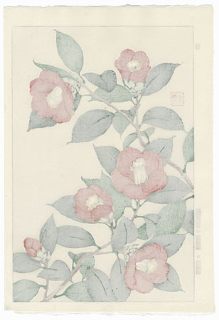 Red Camellias by Kawarazaki Shodo (1889 - 1973)