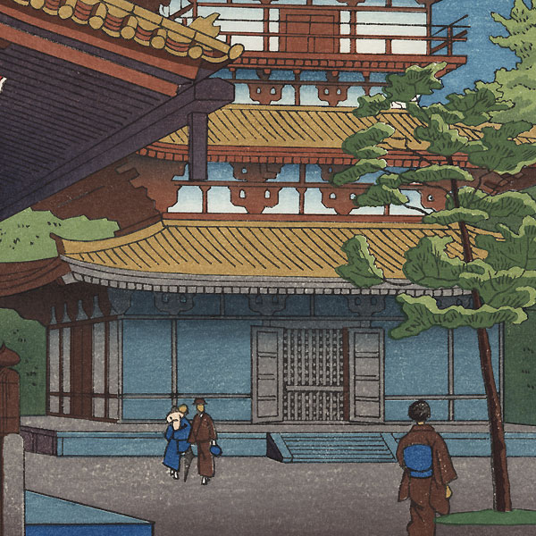 Twilight in Yakushiji Temple, 1953 by Takeji Asano (1900 - 1999)