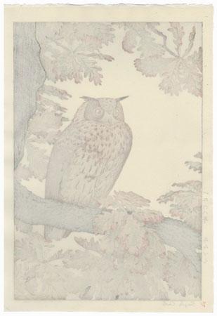 Eagle Owl, 1968 by Toshi Yoshida (1911 - 1995)