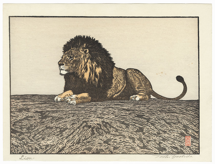Lion, 1987 by Toshi Yoshida (1911 - 1995)