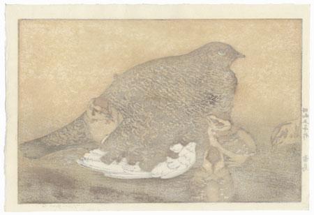 Snow Grouse (Raicho), 1930 by Toshi Yoshida (1911 - 1995)