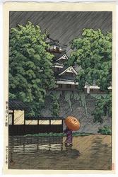 http://www.fujiarts.com/japanese-prints/gallery/hasui/kumamoto_castle_in_samidare_rain_in_may_1948.jpg