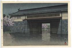 http://www.fujiarts.com/japanese-prints/gallery/hasui/spring_rain_at_sakurada_gate_tokyo_1952.jpg