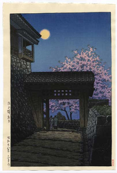 http://www.fujiarts.com/japanese-prints/gallery/hasui/cherry_blossoms_and_moon_at_matsuyama_castle_1953.jpg