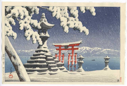 http://www.fujiarts.com/japanese-prints/gallery/hasui/snow_at_itsukushima_1932.jpg
