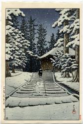http://www.fujiarts.com/japanese-prints/gallery/hasui/konjikido_in_snow_hiraizumi_1957.jpg